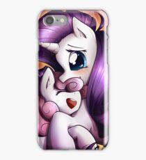 Sisterly love - Rarity & Sweetie Belle iPhone Case/Skin