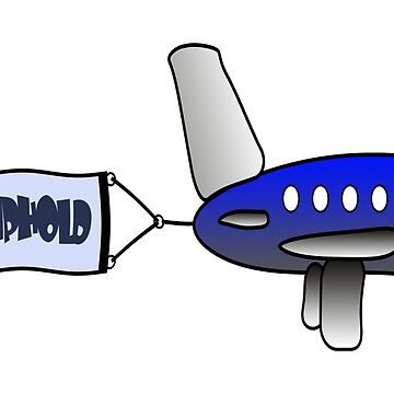 """Cartoon aircraft pulling a  banner with the words """"Geschiphold""""  by stuwdamdorp"""