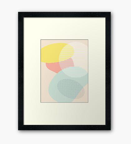 Lost In Shapes III #redbubble #buyart Framed Print