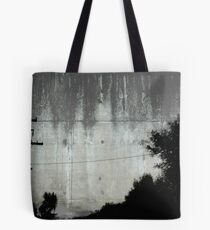 The Pole becomes a Robot Tree. Tote Bag