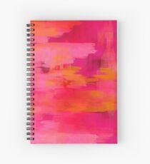 """Cuaderno de espiral """"Pinceladas abstractas rosas y naranjas"""""""
