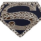 Super Native - in brown and dark blue by Rainey Hopson