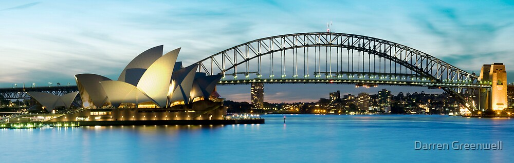 Opera House and Bridge, Sydney Harbour, NSW by Darren Greenwell