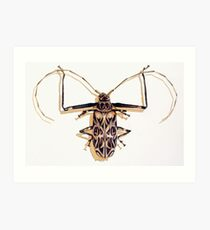 """Acrocinus longimanus"" Harlequin Beetle Watercolor Art Print"