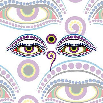 Buddha eyes 2 by f-zimba