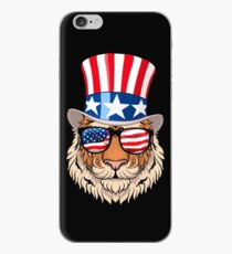 Tiger Celebrating Independence Day iPhone Case
