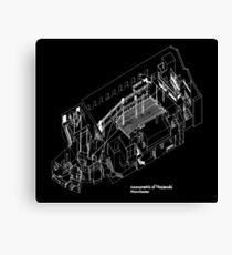 Haç Axonometric (black version) Canvas Print