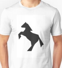 Abstract jumping horse silhouette Unisex T-Shirt