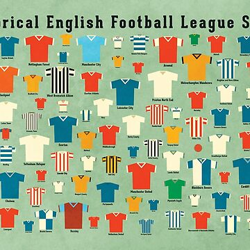 Historical English football league shirts by daviz