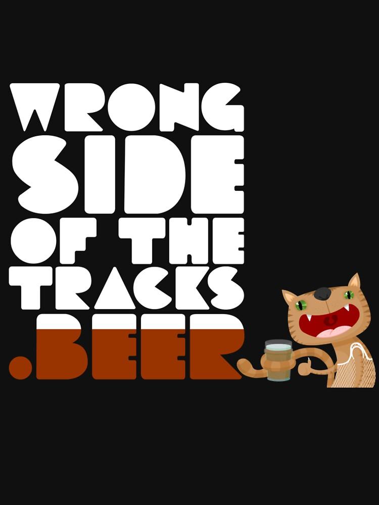 WrongSideOfTheTracks.beer Cat and Text by jaxon-v