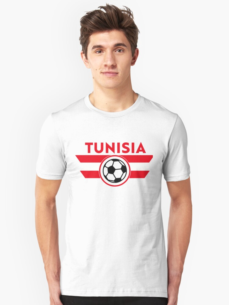 save off 67488 60667 'Tunisia Soccer Jersey Shirt Football' T-Shirt by 7United