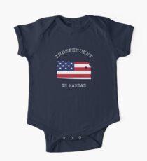 Kansas-Unabhängigkeitstag am 4. Juli Hemd Baby Body Kurzarm