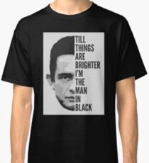 "Johnny Cash - ""Man In Black"" Lyrics Classic T-Shirt"