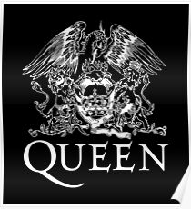 Queen Band Royal Crest Logo Poster