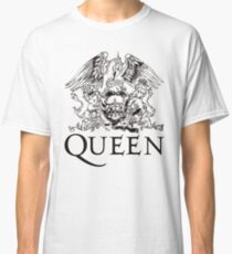 Queen Band Royal Crest Logo Black Classic T-Shirt