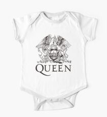Queen Band Royal Crest Logo Black One Piece - Short Sleeve