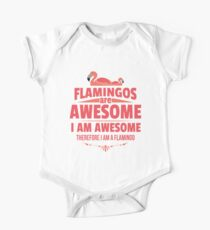 Flamingos Are Awesome One Piece - Short Sleeve