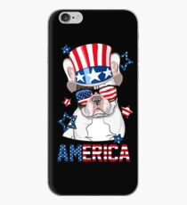 America French Bulldog Dog Owner 4th of July iPhone Case