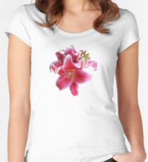 Cluster of Stargazer Lilies Women's Fitted Scoop T-Shirt