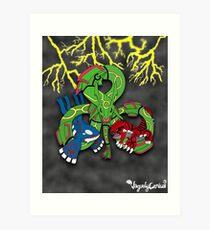 Rayquaza, Kyogre, & Groudon - Hoenn Remake Ahoy! Art Print