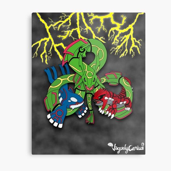 Rayquaza, Kyogre, & Groudon - Hoenn Remake Ahoy! Metal Print