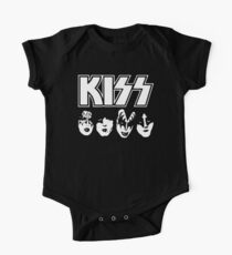 Kiss Band Logo and Face Paint One Piece - Short Sleeve