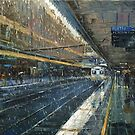 Rainy Train Station, Flinders Street Station by Dusan Malobabic
