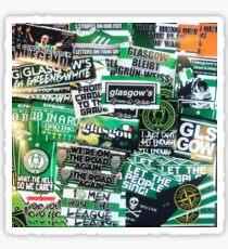 Glasgow Celtic - Green & White - GLSGOW -The Fields of Athenrye -GCFC ULTRA Stickers Sticker