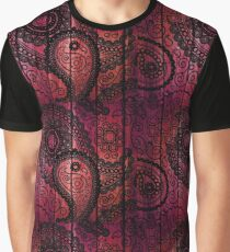Purple Pink Abstract Graphic T-Shirt
