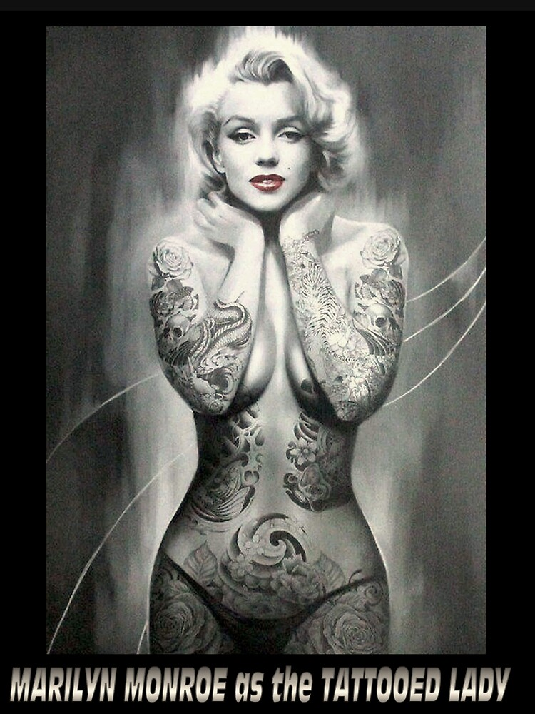 MARILYN MONROE: als TATTOOED LADY Print von posterbobs