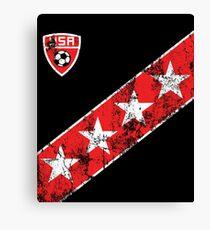 USA Soccer Jersey Shirt Retro Vintage US Fan Canvas Print