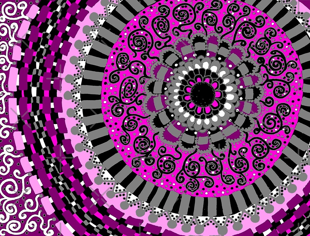 Pretty in Pink Mandala by Clare Wuellner