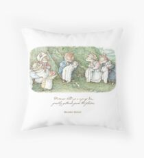 Brambly Hedge Naming Ceremony Throw Pillow