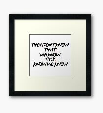 Phoebe Quote Framed Print