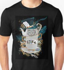 Alice in Wonderland Mad hatter Cheshire Cat Unisex T-Shirt