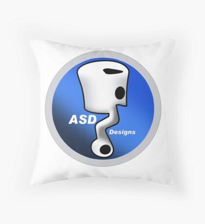 ASD Blue Logo Throw Pillow
