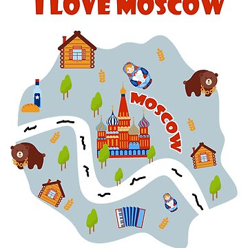 Cool Gift Ideas For Moscow Lover. Shirt For Brother/Dad. by CatShirt