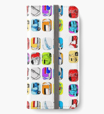 Scooter T-shirts Art: Vintage scooter cube illustration iPhone Wallet