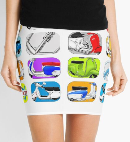 Scooter T-shirts Art: Vintage scooter cube illustration Mini Skirt