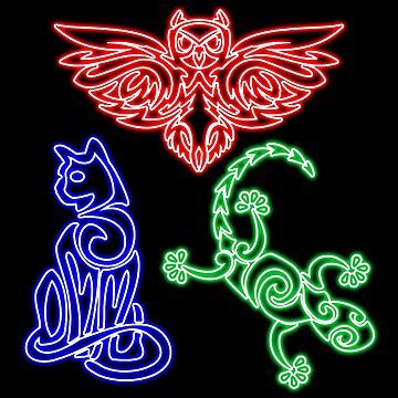 Owlette gekko catboy neon tattoo by ideasfinder