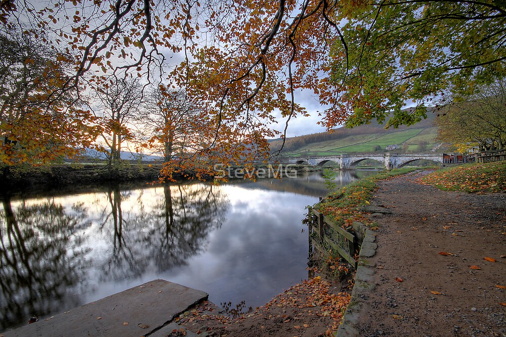 Autumn In Burnsall  by SteveMG