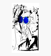 Jäger im Blues Fotodruck