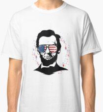 Abraham Lincoln American Fag Sun Glasses Fireworks Classic T-Shirt