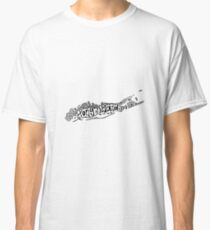 Hipster Long Island Outline Classic T-Shirt
