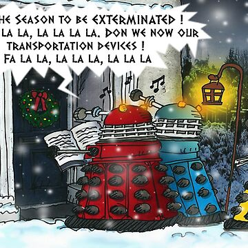 The Dalek Carol Singers by ToneCartoons