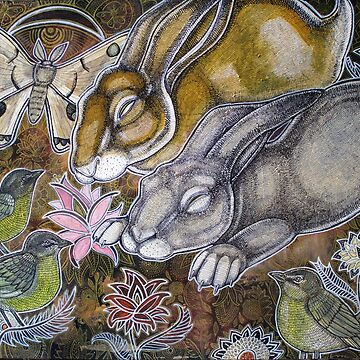 Dreaming Rabbits by LynnetteShelley