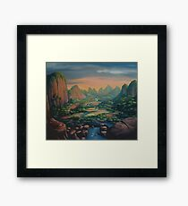The Great Valley Tapestry Framed Print