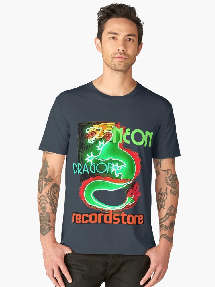 Neon Dragon Recordstore Men's Premium T-Shirt Front
