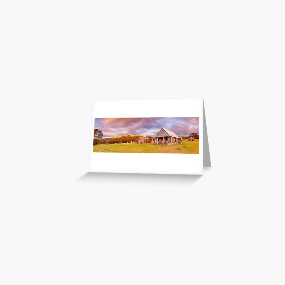 Coolamine Homestead Sunset, Kosciuszko National Park, New South Wales, Australia Greeting Card