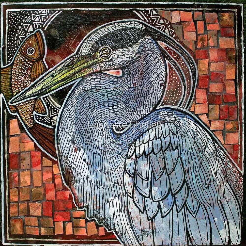 Great Blue Heron by Lynnette Shelley
